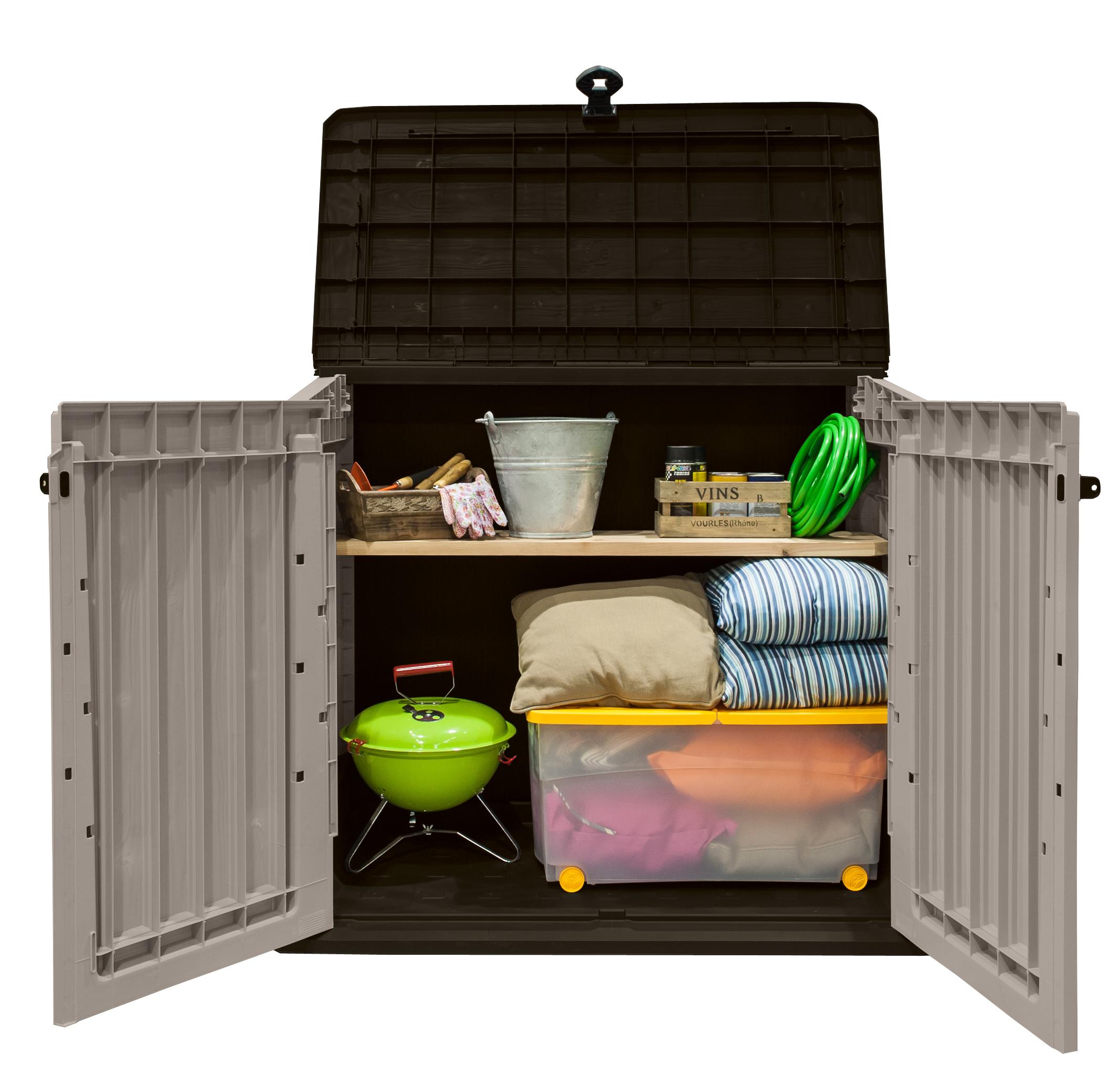 keter m lltonnenbox store it out midi beige braun. Black Bedroom Furniture Sets. Home Design Ideas
