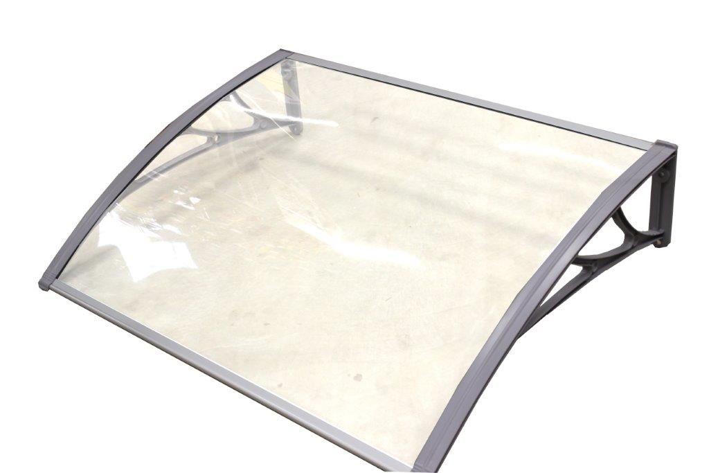 classic vordach 150 x 100 cm silber haust rdach haust r pultvordach haust r dach ebay. Black Bedroom Furniture Sets. Home Design Ideas
