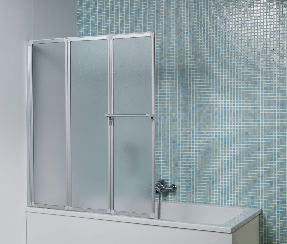 dusar badewannenfaltwand bf 3 400 360 silber badewannenaufsatz faltwand wand ebay. Black Bedroom Furniture Sets. Home Design Ideas